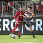 13-01-2017: Voetbal: Almere City FC v FC Volendam: Almere (L-R) Soufyan Ahannach (Almere City FC), Mohamed Betti (FC Volendam) Jupiler League 2016 / 2017