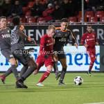 13-01-2017: Voetbal: Almere City FC v FC Volendam: Almere (L-R) Raoul Esseboom (FC Volendam), Jeffrey Rijsdijk (Almere City FC), Mohamed Betti (FC Volendam) Jupiler League 2016 / 2017