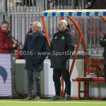 13-01-2017: Voetbal: Almere City FC v FC Volendam: Almere (L-R) Jack de Gier - Technisch manager/Hoofdtrainer (Almere City FC) Marco Heering - Assistent trainer (Almere City FC) Jupiler League 2016 / 2017