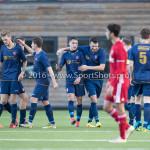 14-01-2017: Voetbal: Jong Almere City v Harkemase Boys: Almere Matthijs Hardijk (Harkemase Boys), Klaas Schotanus (Harkemase Boys) 3de divisie zaterdag 2016 /2017