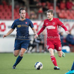 14-01-2017: Voetbal: Jong Almere City v Harkemase Boys: Almere (L-R) Henny Bouius (Harkemase Boys), Jasper Waalkens (Almere City FC) 3de divisie zaterdag 2016 /2017