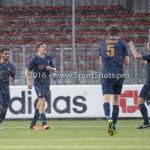 14-01-2017: Voetbal: Jong Almere City v Harkemase Boys: Almere (L-R) Bjorn Adams (Harkemase Boys), Henny Bouius (Harkemase Boys) 3de divisie zaterdag 2016 /2017