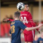 14-01-2017: Voetbal: Jong Almere City v Harkemase Boys: Almere (L-R) Jens Juan Streutker (Harkemase Boys), Daan Ibrahim (Jong Almere City FC) 3de divisie zaterdag 2016 /2017