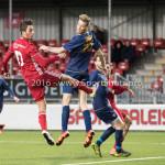 14-01-2017: Voetbal: Jong Almere City v Harkemase Boys: Almere (L-R) Khalid Tadmine (Almere City FC),Jens Juan Streutker (Harkemase Boys) 3de divisie zaterdag 2016 /2017