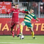 27-01-2017: Voetbal: Almere City FC v Fortuna Sittard: Almere (L-R) Silvester van de Water (Almere City FC), Marco Ospitalieri (Fortuna Sittard) Jupiler League 2016 / 2017