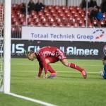 27-01-2017: Voetbal: Almere City FC v Fortuna Sittard: Almere (L-R) Silvester van de Water (Almere City FC), Miguel Santos (Fortuna Sittard) Jupiler League 2016 / 2017