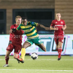 27-01-2017: Voetbal: Almere City FC v Fortuna Sittard: Almere (L-R) Jeffrey Rijsdijk (Almere City FC), Roald van Hout (Fortuna Sittard) Jupiler League 2016 / 2017