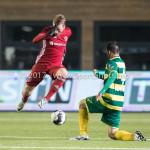 27-01-2017: Voetbal: Almere City FC v Fortuna Sittard: Almere (L-R) Jeffrey Rijsdijk (Almere City FC), Kamen Hadzhiev (Fortuna Sittard) Jupiler League 2016 / 2017]