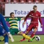 27-01-2017: Voetbal: Almere City FC v Fortuna Sittard: Almere (L-R) Marco Ospitalieri (Fortuna Sittard), Silvester van de Water (Almere City FC) Jupiler League 2016 / 2017