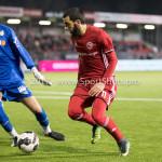 27-01-2017: Voetbal: Almere City FC v Fortuna Sittard: Almere (L-R) Miguel Santos (Fortuna Sittard), Soufyan Ahannach (Almere City FC) Jupiler League 2016 / 2017