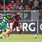 27-01-2017: Voetbal: Almere City FC v Fortuna Sittard: Almere (L-R) Christopher Braun (Fortuna Sittard), Sherjill Mac-Donalds (Almere City FC) Jupiler League 2016 / 2017