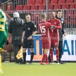 27-01-2017: Voetbal: Almere City FC v Fortuna Sittard: Almere (L-R) Silvester van de Water (Almere City FC), Arsenio Valpoort (Almere City FC) Jupiler League 2016 / 2017