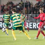 27-01-2017: Voetbal: Almere City FC v Fortuna Sittard: Almere (L-R) Ferry de Regt (Fortuna Sittard), Jeffrey Rijsdijk (Almere City FC) Jupiler League 2016 / 2017