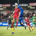27-01-2017: Voetbal: Almere City FC v Fortuna Sittard: Almere (L-R) Damon Mirani (Almere City FC), Miguel Santos (Fortuna Sittard) Jupiler League 2016 / 2017