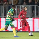 27-01-2017: Voetbal: Almere City FC v Fortuna Sittard: Almere (L-R) Christopher Braun (Fortuna Sittard), Soufyan Ahannach (Almere City FC) Jupiler League 2016 / 2017