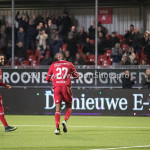 27-01-2017: Voetbal: Almere City FC v Fortuna Sittard: Almere (L-R) Soufyan Ahannach (Almere City FC), Arsenio Valpoort (Almere City FC) Jupiler League 2016 / 2017