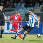 03-02-2017: Voetbal: FC Eindhoven v Almere City FC: Eindhoven (L-R) Jeffrey Rijsdijk (Almere City FC), Sebastiaan de Wilde (FC Eindhoven) Jupiler League 2016 / 2017