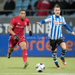 03-02-2017: Voetbal: FC Eindhoven v Almere City FC: Eindhoven (L-R) Sherjill Mac-Donalds (Almere City FC), Thomas Horsten (FC Eindhoven) Jupiler League 2016 / 2017