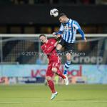 03-02-2017: Voetbal: FC Eindhoven v Almere City FC: Eindhoven (L-R) Tom Overtoom (Almere City FC), Rai Vloet (FC Eindhoven) Jupiler League 2016 / 2017