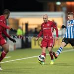 03-02-2017: Voetbal: FC Eindhoven v Almere City FC: Eindhoven (L-R) Kees van Buuren (Almere City FC), Thomas Horsten (FC Eindhoven) Jupiler League 2016 / 2017