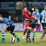 03-02-2017: Voetbal: FC Eindhoven v Almere City FC: Eindhoven (L-R) Dario van den Buijs (FC Eindhoven), Tom Overtoom (Almere City FC), Sebastiaan de Wilde (FC Eindhoven) Jupiler League 2016 / 2017