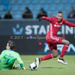 03-02-2017: Voetbal: FC Eindhoven v Almere City FC: Eindhoven (L-R) Dario van den Buijs (FC Eindhoven), Arsenio Valpoort (Almere City FC), Ruud Swinkels (FC Eindhoven) Jupiler League 2016 / 2017