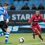 03-02-2017: Voetbal: FC Eindhoven v Almere City FC: Eindhoven (L-R) Dario van den Buijs (FC Eindhoven), Arsenio Valpoort (Almere City FC) Jupiler League 2016 / 2017