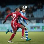 03-02-2017: Voetbal: FC Eindhoven v Almere City FC: Eindhoven (L-R) Arsenio Valpoort (Almere City FC), Dario van den Buijs (FC Eindhoven) Jupiler League 2016 / 2017