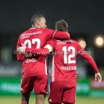 03-02-2017: Voetbal: FC Eindhoven v Almere City FC: Eindhoven Arsenio Valpoort (Almere City FC), Tom Overtoom (Almere City FC) Jupiler League 2016 / 2017