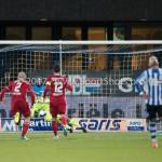 03-02-2017: Voetbal: FC Eindhoven v Almere City FC: Eindhoven (L-R) Chiel Kramer (Almere City FC), Dario van den Buijs (FC Eindhoven) Jupiler League 2016 / 2017