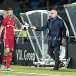03-02-2017: Voetbal: FC Eindhoven v Almere City FC: Eindhoven (L-R) Lars Nieuwpoort (Almere City FC), Jack de Gier - Technisch manager/Hoofdtrainer (Almere City FC) Jupiler League 2016 / 2017