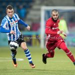 03-02-2017: Voetbal: FC Eindhoven v Almere City FC: Eindhoven (L-R) Thomas Horsten (FC Eindhoven), Soufyan Ahannach (Almere City FC) Jupiler League 2016 / 2017