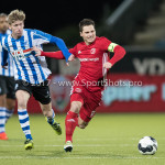 03-02-2017: Voetbal: FC Eindhoven v Almere City FC: Eindhoven (L-R) Fries Deschilder (FC Eindhoven), Tom Overtoom (Almere City FC) Jupiler League 2016 / 2017