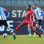 03-02-2017: Voetbal: FC Eindhoven v Almere City FC: Eindhoven (L-R) Calvin Mac Intosch (Almere City FC), Rafael Uiterloo (FC Eindhoven) Jupiler League 2016 / 2017