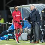 03-02-2017: Voetbal: FC Eindhoven v Almere City FC: Eindhoven (L-R) Arsenio Valpoort (Almere City FC), Jack de Gier - Technisch manager/Hoofdtrainer (Almere City FC) Jupiler League 2016 / 2017