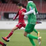 04-02-2017: Voetbal:Almere City FC O17 v PEC Zwolle O17: Almere Rida el Barjiji (Almere City FC O17) Seizoen 2016 / 2017