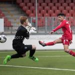 04-02-2017: Voetbal:Almere City FC O17 v PEC Zwolle O17: Almere Akram Adahchour (Almere City FC O17) Seizoen 2016 / 2017