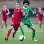 04-02-2017: Voetbal:Almere City FC O17 v PEC Zwolle O17: Almere Berkay Delice (Almere City FC O17) Seizoen 2016 / 2017
