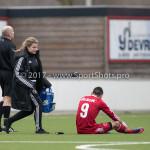 04-02-2017: Voetbal:Almere City FC O17 v PEC Zwolle O17: Almere (L-R) Manouk Wolters (Almere City FC O17), Berkay Delice (Almere City FC O17) Seizoen 2016 / 2017