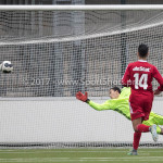 04-02-2017: Voetbal:Almere City FC O17 v PEC Zwolle O17: Almere Shawn Veldhuis (Almere City FC O17) Seizoen 2016 / 2017