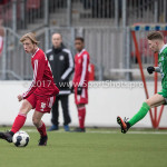 04-02-2017: Voetbal:Almere City FC O17 v PEC Zwolle O17: Almere Denis Wooninck (Almere City FC O17) Seizoen 2016 / 2017