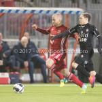 06-02-2017: Voetbal: Almere City FC v FC Emmen: Almere (L-R) Kees van Buuren (Almere City FC), Henk Bos(FC Emmen) Seizoen 2016 / 2017
