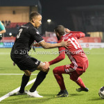 06-02-2017: Voetbal: Almere City FC v FC Emmen: Almere (L-R) Josimar Lima (FC Emmen), Soufyan Ahannach (Almere City FC) Seizoen 2016 / 2017