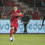 06-02-2017: Voetbal: Almere City FC v FC Emmen: Almere (L-R) Gaston Salasiwa (Almere City FC), Henk Bos(FC Emmen) Seizoen 2016 / 2017
