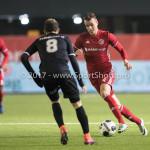 06-02-2017: Voetbal: Almere City FC v FC Emmen: Almere (L-R) Henk Bos(FC Emmen), Lars Nieuwpoort (Almere City FC) Seizoen 2016 / 2017