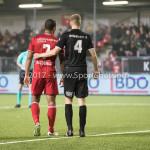 06-02-2017: Voetbal: Almere City FC v FC Emmen: Almere (L-R) Sherjill Mac-Donalds (Almere City FC), Tim Siekman (FC Emmen) Seizoen 2016 / 2017