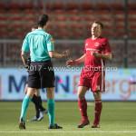 06-02-2017: Voetbal: Almere City FC v FC Emmen: Almere (L-R) Richard Martens (Scheidsrechter),  Damon Mirani (Almere City FC) Seizoen 2016 / 2017