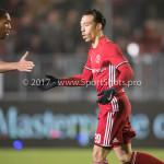 06-02-2017: Voetbal: Almere City FC v FC Emmen: Almere (L-R) Sherjill Mac-Donalds (Almere City FC),Gaston Salasiwa (Almere City FC) Seizoen 2016 / 2017