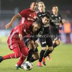 06-02-2017: Voetbal: Almere City FC v FC Emmen: Almere (L-R) Soufyan Ahannach (Almere City FC), Deniz Aslan (FC Emmen) Seizoen 2016 / 2017