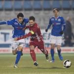 10-02-2017: Voetbal: FC Den Bosch v Almere City FC: Den Bosch (L-R) Zija Azizov (FC Den Bosch), Tom Overtoom (Almere City FC) Jupiler League 2016 / 2017